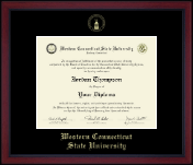 Western Connecticut State University Diploma Frame - Gold Embossed Achievement Edition Diploma Frame in Academy