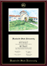Humboldt State University  Diploma Frame - Campus Scene Edition Diploma Frame in Galleria