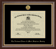 National Honor & Merit Scholars Society Certificate Frame - Gold Engraved Medallion Certificate Frame in Hampshire