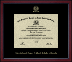 National Honor & Merit Scholars Society Certificate Frame - Gold Embossed Achievement Edition Certificate Frame in Academy