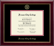 Fresno City College Diploma Frame - Gold Embossed Diploma Frame in Gallery