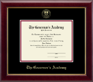 The Governor's Academy Diploma Frame - Gold Embossed Diploma Frame in Gallery