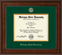 Michigan State University Diploma Frame - Presidential Masterpiece Diploma Frame in Madison