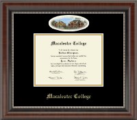 Macalester College Diploma Frame - Campus Cameo Diploma Frame in Chateau