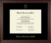 Choate Rosemary Hall Diploma Frame - Gold Embossed Diploma Frame in Studio