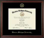 Western Michigan University Diploma Frame - Gold Embossed Diploma Frame in Studio