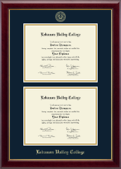Lebanon Valley College Diploma Frame - Double Diploma Frame in Gallery