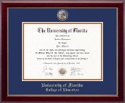 University of Florida Diploma Frame - Masterpiece Medallion Diploma Frame in Gallery