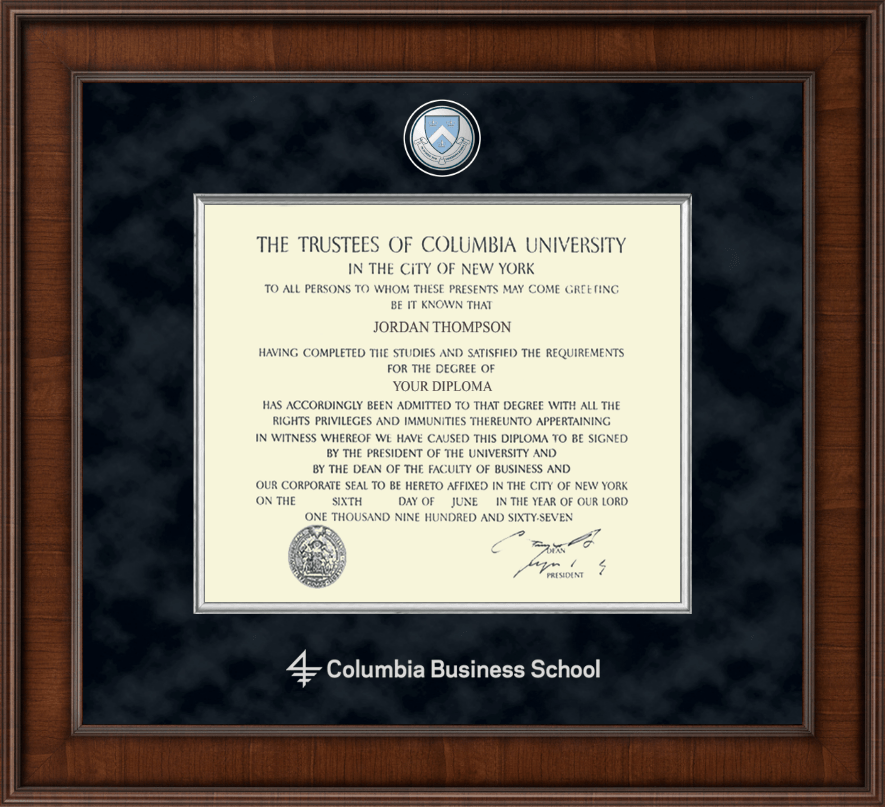 Columbia University Presidential Masterpiece Diploma Frame In Madison Item 222214 Cbs From Columbia University Book Store