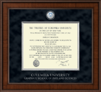 Columbia University Diploma Frame - Presidential Masterpiece Diploma Frame in Madison