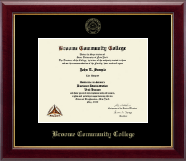 Broome Community College Diploma Frame - Gold Embossed Diploma Frame in Gallery