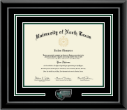 University of North Texas Diploma Frame - Spirit Medallion Diploma Frame in Onyx Silver
