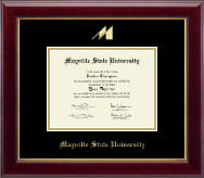 Mayville State University  Diploma Frame - Gold Embossed Diploma Frame in Gallery