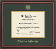 Dartmouth College Certificate Frame - Honors Certificate Frame in Regency
