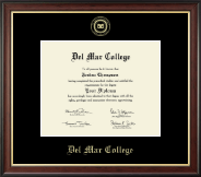 Del Mar College Diploma Frame - Gold Embossed Diploma Frame in Studio Gold