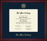 Del Mar College Diploma Frame - Gold Embossed Achievement Edition Diploma Frame in Academy