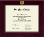 Del Mar College Diploma Frame - Century Gold Engraved Diploma Frame in Cordova