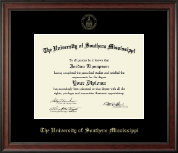 The University of Southern Mississippi Diploma Frame - Gold Embossed Diploma Frame in Studio