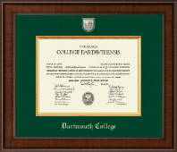 Dartmouth College Diploma Frame - Presidential Masterpiece Diploma Frame in Madison