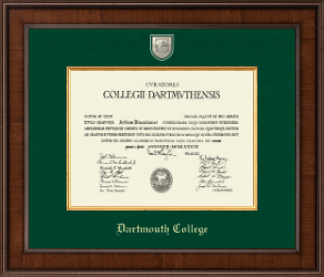 dartmouth college diploma frame presidential masterpiece diploma frame in madison