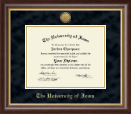 The University of Iowa Diploma Frame - Gold Engraved Medallion Diploma Frame in Hampshire