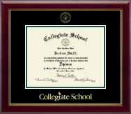 Collegiate School  Diploma Frame - Gold Embossed Diploma Frame in Gallery