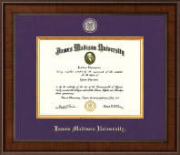 James Madison University Diploma Frame - Presidential Brass Masterpiece Diploma Frame in Madison