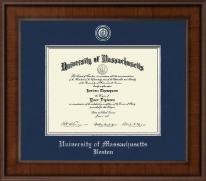 University of Massachusetts Boston Diploma Frame - Presidential Pewter Masterpiece Diploma Frame in Madison