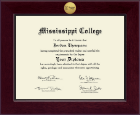 Mississippi College Diploma Frame - Century Gold Engraved Diploma Frame in Cordova
