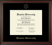 Hamline University Diploma Frame - Gold Embossed Diploma Frame in Studio