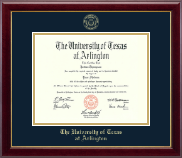 The University of Texas at Arlington Diploma Frame - Gold Embossed Diploma Frame in Gallery