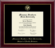 Missouri Southern State University Diploma Frame - Gold Embossed Diploma Frame in Gallery