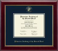 Princeton Academy of the Sacred Heart Diploma Frame - Gold Embossed Diploma Frame in Gallery