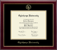 Oglethorpe University  Diploma Frame - Gold Embossed Diploma Frame in Gallery
