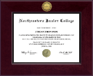 Northeastern Junior College Diploma Frame - Century Gold Engraved Diploma Frame in Cordova