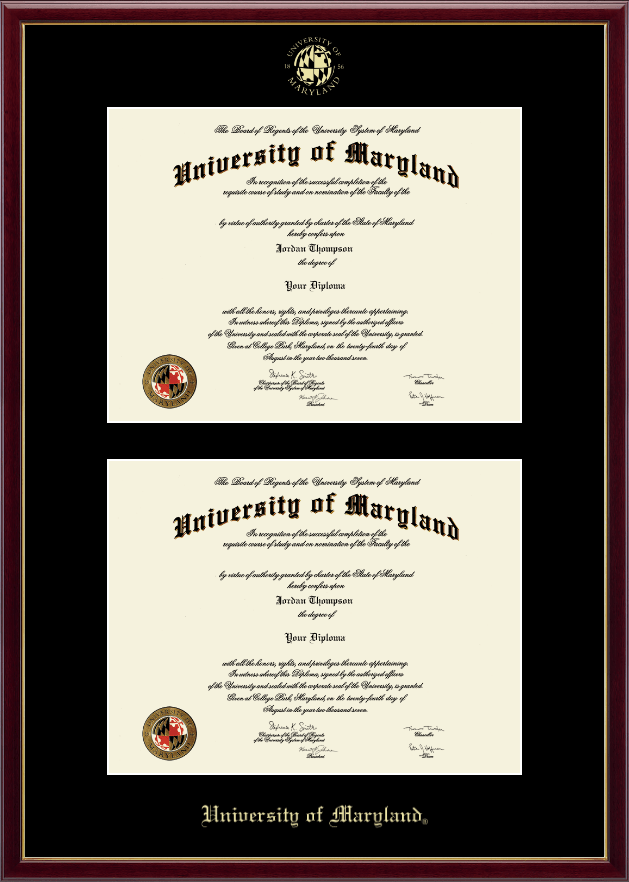 University Of Maryland College Park Diploma Frame.University Of ...