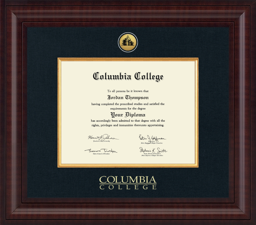 Columbia College In Alabama Presidential Gold Engraved