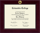 Columbia College Diploma Frame - Century Gold Engraved Diploma Frame in Cordova