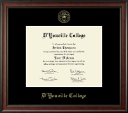D'Youville College Diploma Frame - Gold Embossed Diploma Frame in Studio