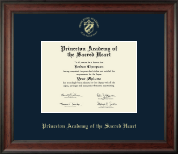 Princeton Academy of the Sacred Heart Diploma Frame - Gold Embossed Diploma Frame in Studio