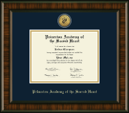 Princeton Academy of the Sacred Heart Diploma Frame - Gold Engraved Medallion Diploma Frame in Brentwood