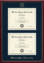 William Penn University Diploma Frame - Double Diploma Frame in Galleria
