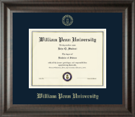William Penn University Diploma Frame  - Gold Embossed Diploma Frame in Acadia