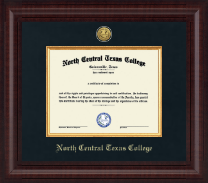 North Central Texas College Diploma Frame - Presidential Gold Engraved Diploma Frame in Premier