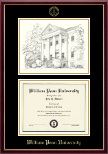 William Penn University Diploma Frame - Campus Scene Overly Edition Diploma Frame in Galleria