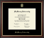 McMurry University Diploma Frame - Gold Embossed Diploma Frame in Studio Gold