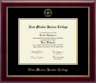 New Mexico Junior College Diploma Frame - Gold Embossed Diploma Frame in Gallery
