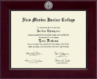 New Mexico Junior College Diploma Frame - Century Silver Engraved Diploma Frame in Cordova