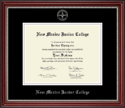 New Mexico Junior College Diploma Frame - Silver Embossed Diploma Frame in Kensington Silver