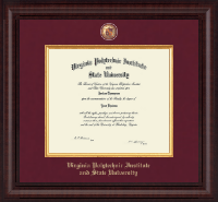Virginia Tech Diploma Frame - Presidential Masterpiece Diploma Frame in Premier